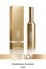 Parfum réjouissance Femme (100ml) : Une fragrance pour femme nommée Réjouissance, aux caractéristiques très coquines, par YesForLov. Flacon de 100 ml.