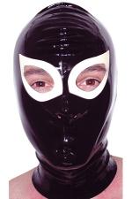 Cagoule latex Gag : Cagoule en latex haute qualité. Orifices pour les yeux et les narines.