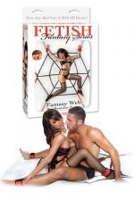 Kit bondage Fantasy Web Bed Restraint System : Une toile d'araignée en cordages et tout le nécessaire pour attacher votre partenaire sur le lit!