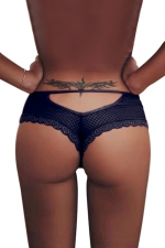 Tanga bleu dentelle - Paris Hollywood