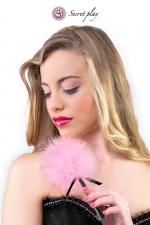 Plumeau 18 cm rose - Secret Play : Petit plumeau coquin pour affoler ses sens avec de douces caresses par Secret Play.