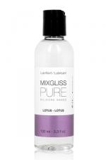 Mixgliss silicone - Pure Lotus 100ml : Un lubrifiant intime à base de silicone, aux subtiles notes de fleur de lotus et au pouvoir ultra glissant.