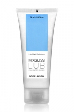 Mix Gliss Nature 70 ml : Une valeur sûre pour ce lubrifiant nature à base d'eau à l'excellent rapport qualité/prix ! format voyage 70 ml.