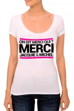 T-shirt J&M Femme n°3 : J&M pensent aussi (et surtout) aux femmes avec un nouveau tee-shirt spécifique mettant mieux en valeur leurs charmes.