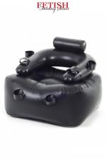 Fauteuil gonflable BDSM : Fauteuil gonflable très solide, dédié aux jeux BDSM grâce à ses liens fixés au niveau des chevilles, poignets et bras.