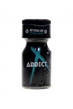Poppers Addict 10ml : Le Poppers Addict est un arôme aphrodisiaque au Nitrite d'Amyle, offrant des sensation ultra fortes (flacon de 10 ml).