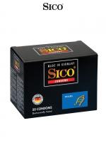 50 préservatifs Sico PEARL : 50 préservatifs haute qualité avec texture perlée pour une stimulation sexuelle maximale de votre partenaire.