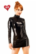 Robe Midnight latex : Robe moulante manches longues, en latex haute qualité.