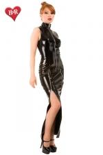 Robe longue Mystique Dress : Robe longue fourreau en vinyle avec deux zips sur les cuisses pour ajuster son look... ravageur !