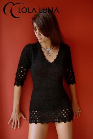 Robe Lana : Petite robe noire en lainage doux et sensuel: qui a dit que les frileuses ne peuvent pas �tre sexy ?