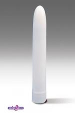 Vibromasseur lisse blanc : Vibromasseur simple pour une première expérience en solo ou accompagner vos ébats.